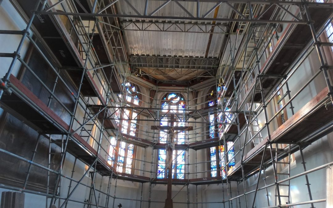Kirche ist jetzt Baustelle